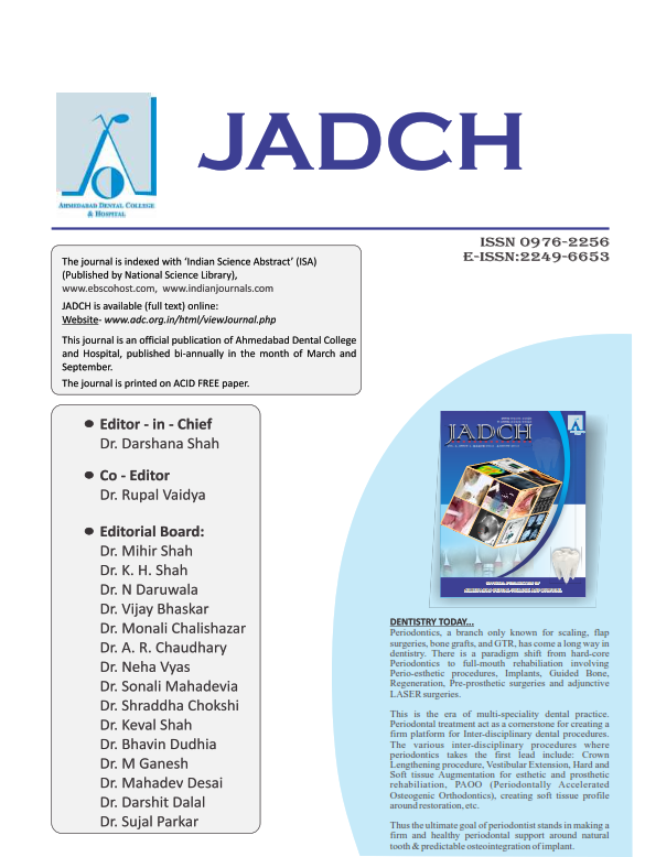 ADCH Journal - Vol 1