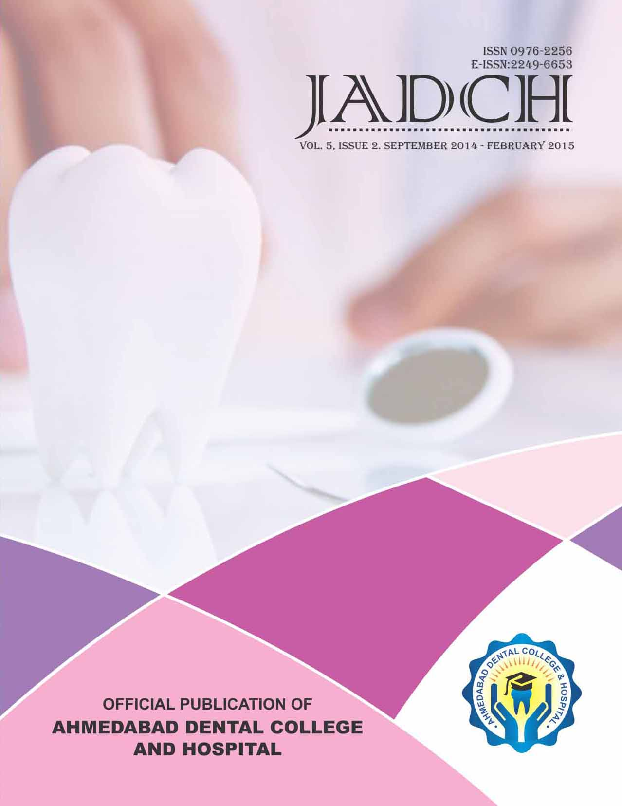 ADCH Journal - Vol 5- issue 2